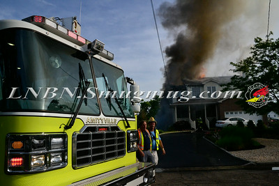 Amityville F.D. House Fire 17 Macdonald Avenue 7-3-14