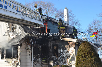 East Farmingdale Fire Co. House Fire Melville Road and Alexander Avenue 2-26-14