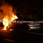 Wantagh F.D. Car Fire N/B Route 135 at the Southern State Pkwy 8-11-14
